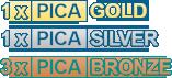 1 PICA Silver Award / 3 PICA Bronze Awards